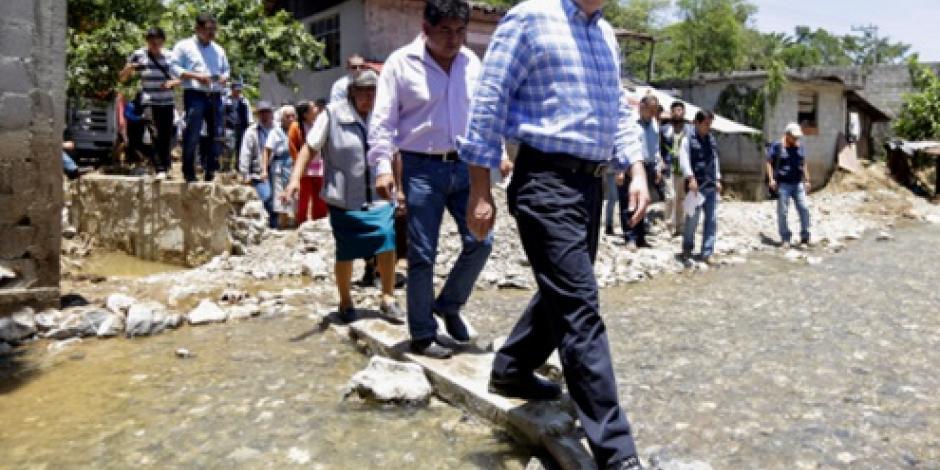 """Ya están comunicados poblados afectados por """"Earl"""", afirma Moreno Valle"""