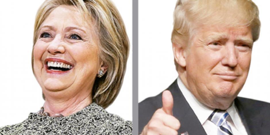 Trump le lleva a Clinton 5% en sondeos a 6 meses de comicios