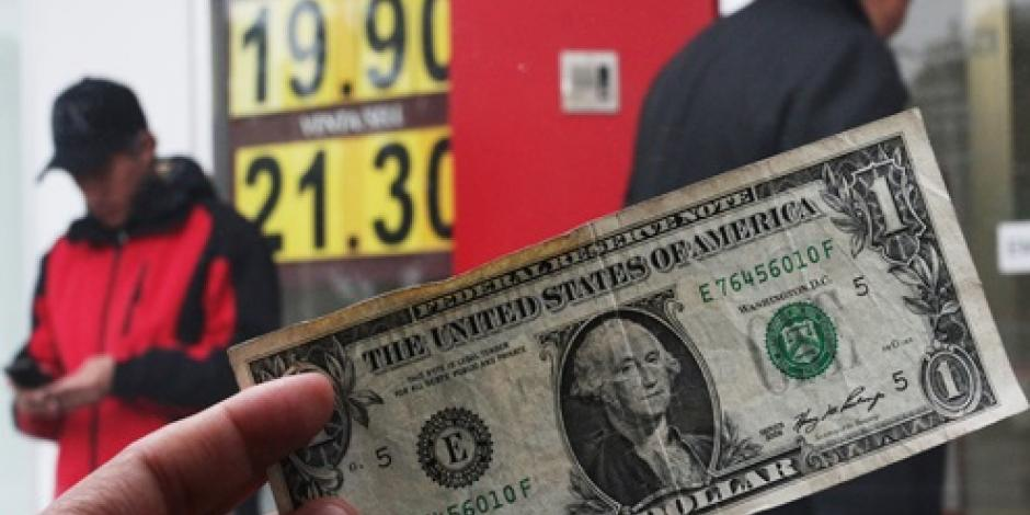 El dólar se cotiza hasta en 20.87 pesos en bancos de la CDMX