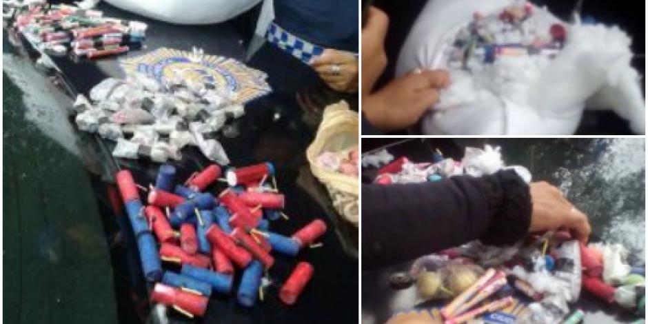 Aficionada fingió embarazo para meter pirotecnia al Estadio Azteca
