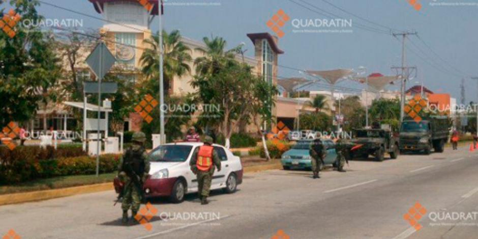 Policías federales y estatales refuerzan seguridad en Acapulco