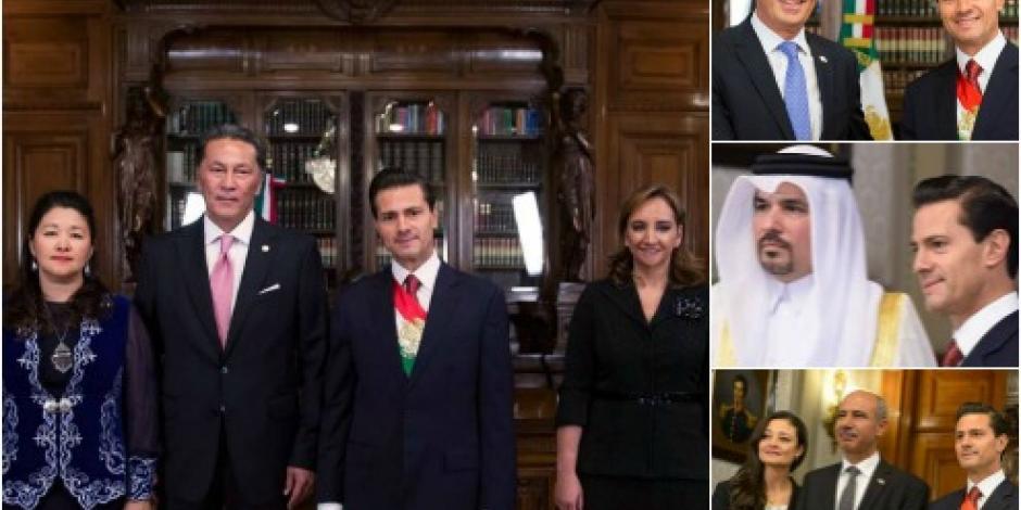 EPN se reúne con nuevos embajadores en México