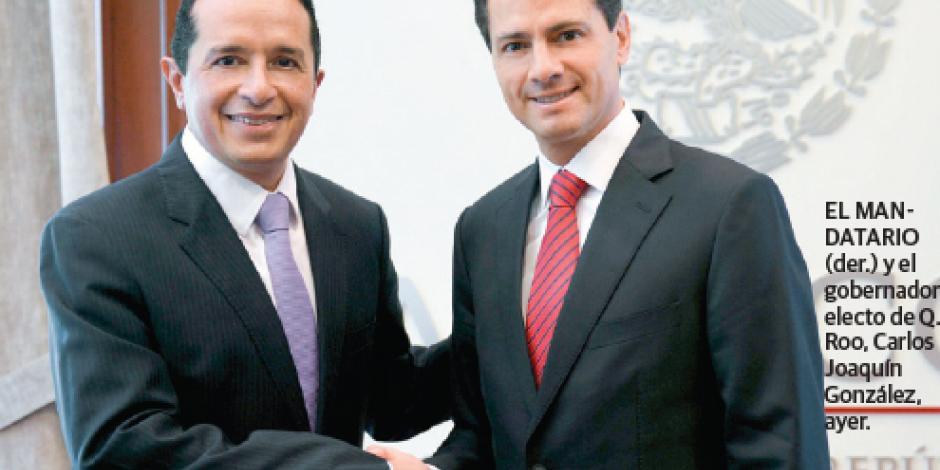 Refrenda EPN apoyo para el desarrollo de Quintana Roo