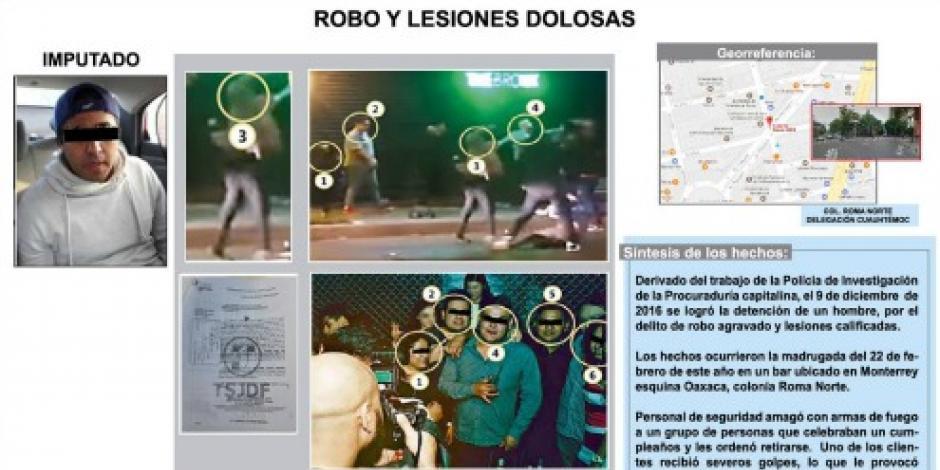 Detienen a sujeto implicado en agresión en bar de la Cuauhtémoc