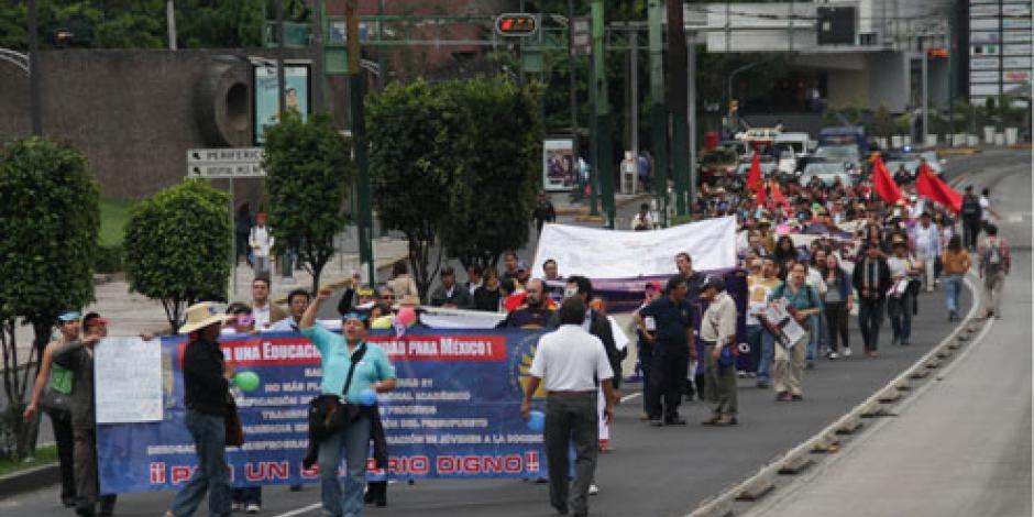 Prevén 8 movilizaciones en calles de la CDMX