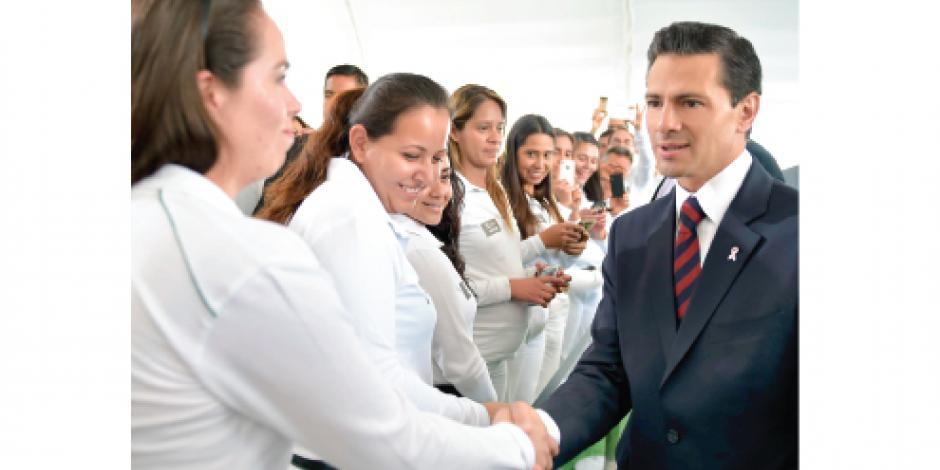 EPN: empleos a septiembre  alcanzan los  2.3 millones
