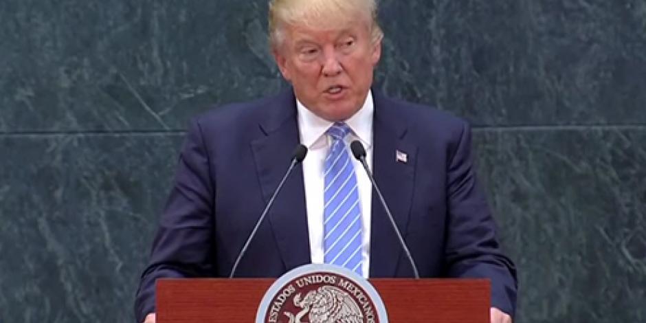 Muro fronterizo debe ser un objetivo compartido, afirma Trump