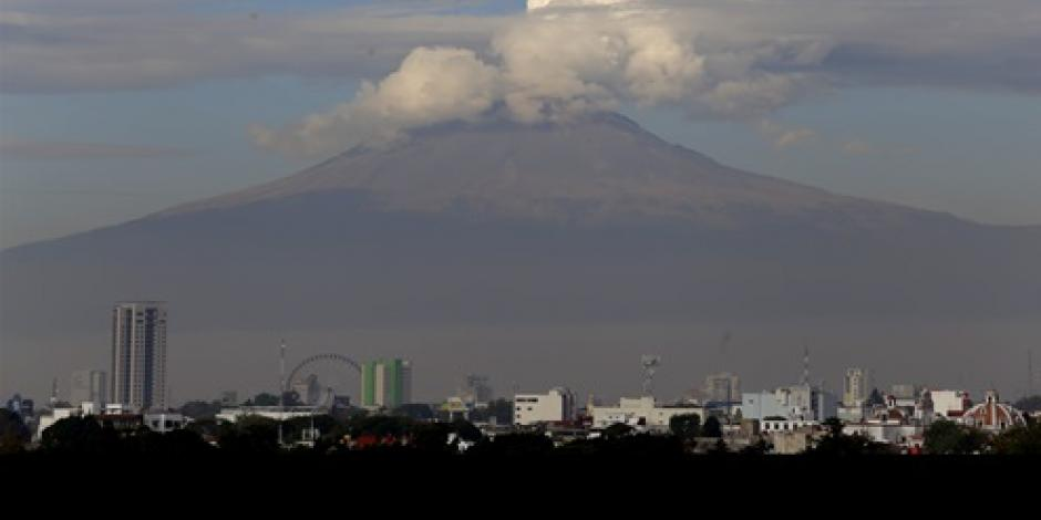 Aumenta domo de lava del volcán Popocatépetl