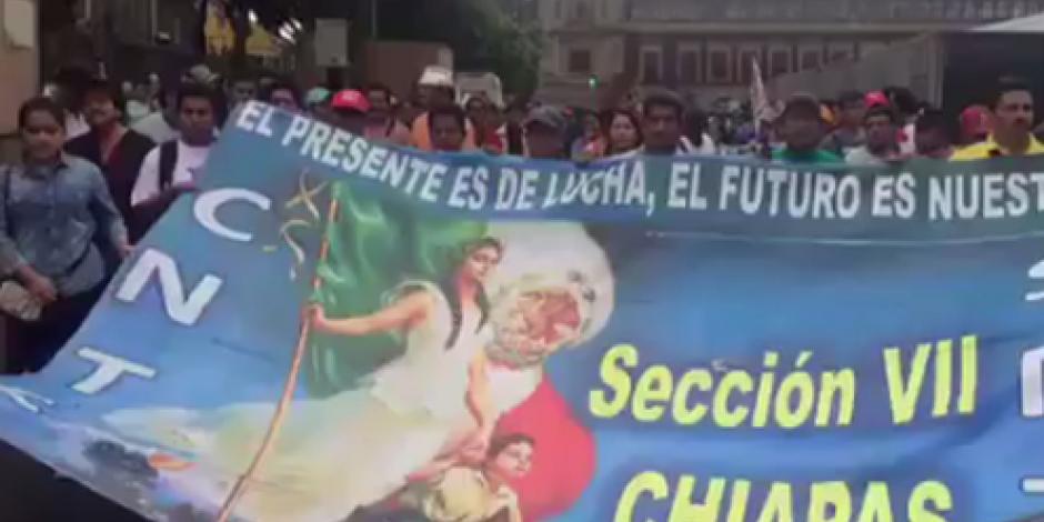 Arranca marcha de la CNTE hacia Segob