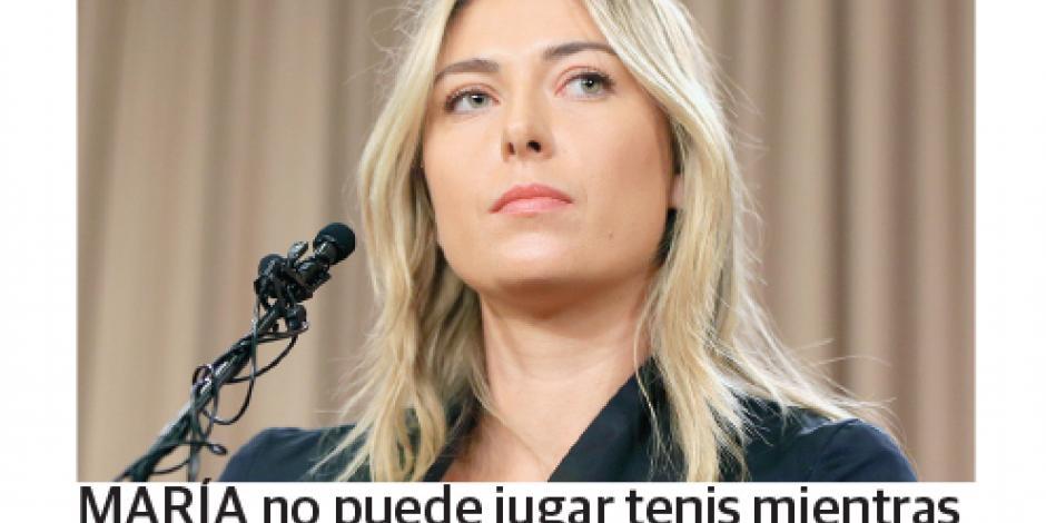 La ONU suspende a Sharapova