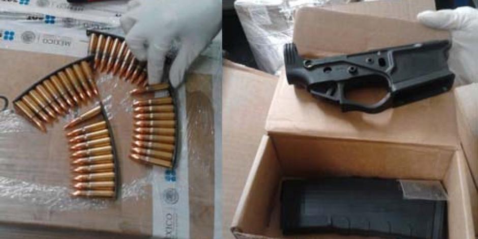 Aseguran en AICM 40 cartuchos para rifles de asalto