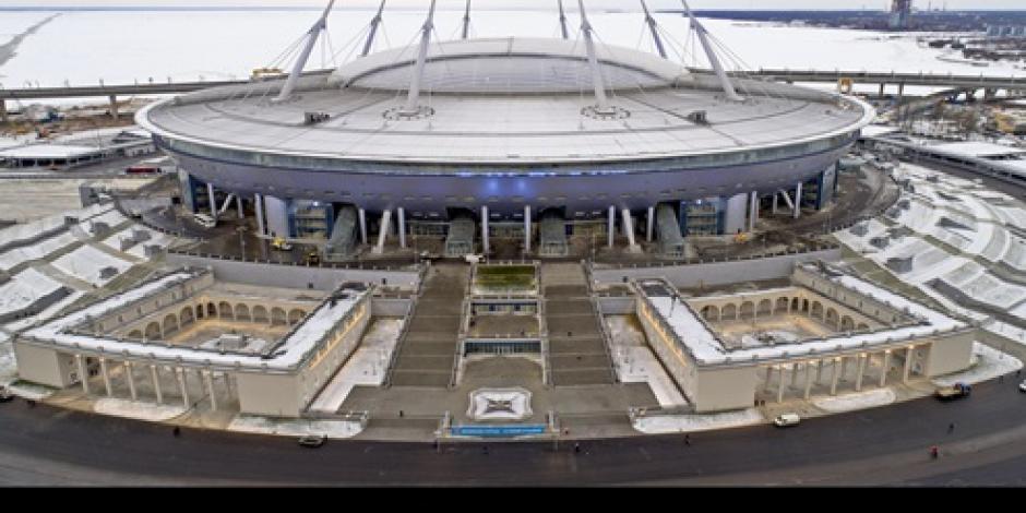 Termina construcción del estadio de futbol San Petersburgo