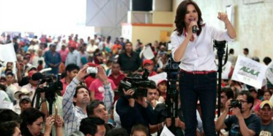 Candidata del PRI en Puebla reta a que oponentes se sometan al antidoping