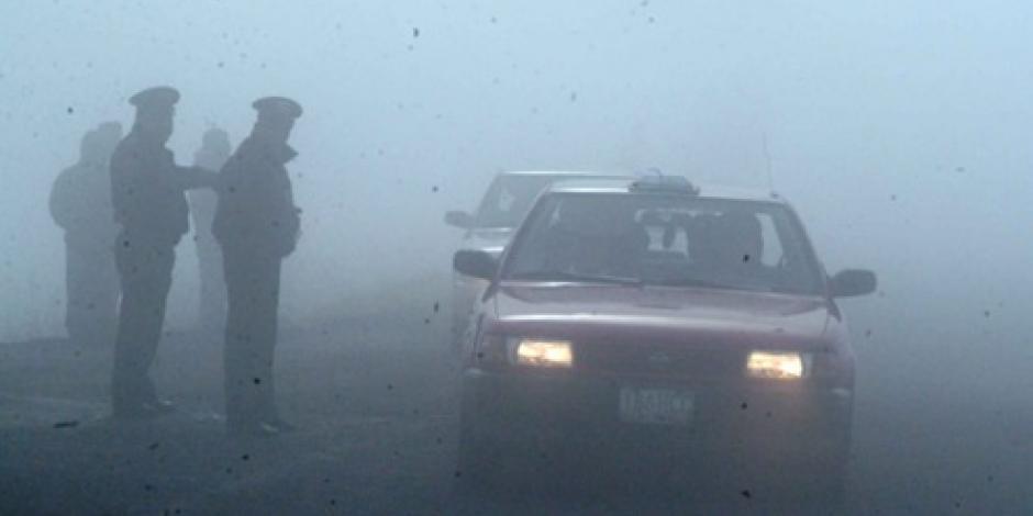 Reportan presencia de niebla en la México-Cuernavaca