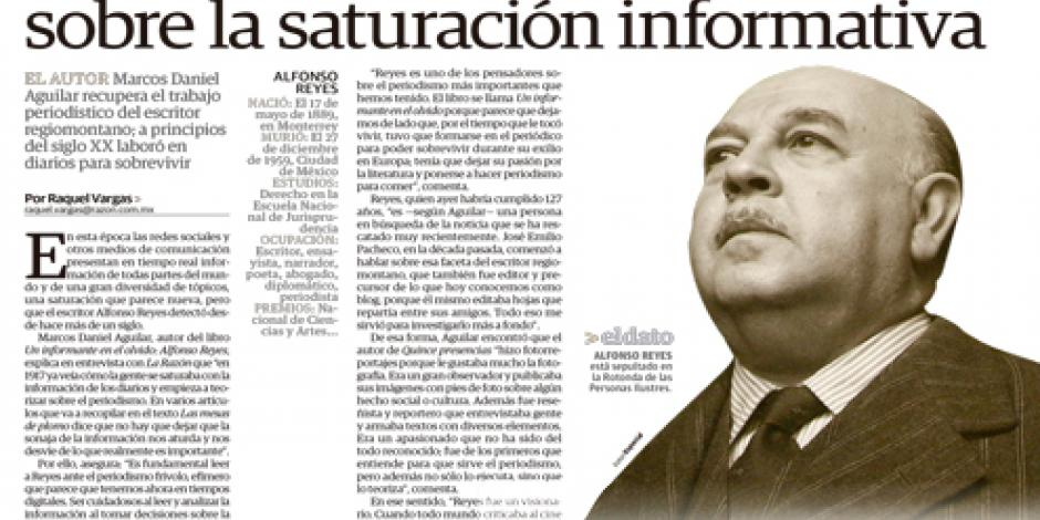 Reyes, el visionario que alertó sobre la saturación informativa