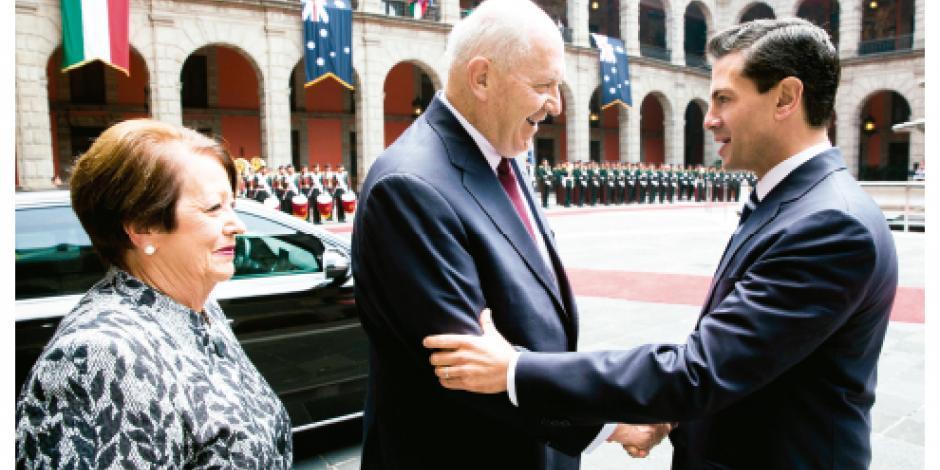 EPN acuerda ampliar comercio con Australia