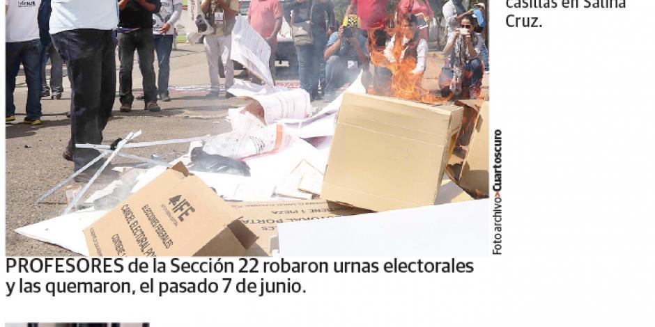 Detienen a otro líder de CNTE en Oaxaca
