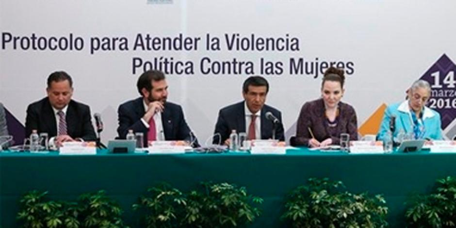 INE presenta protocolo para prevenir violencia contra mujeres
