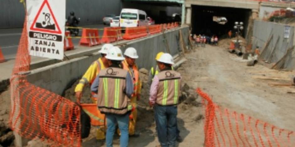 Tras deslave, avanzan con normalidad obras en Circuito Interior
