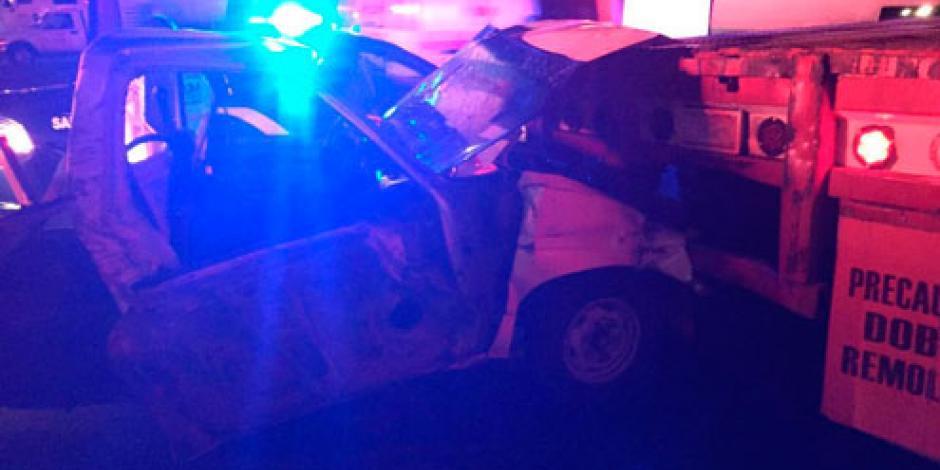 Muere conductor en accidente cerca del Reclusorio Oriente