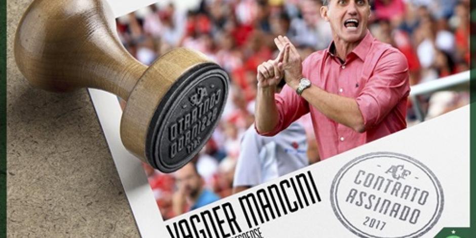Chapecoense nombra a Vagner Mancini como nuevo técnico
