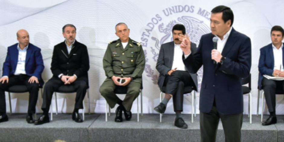 En seguridad no se trata de competir, advierte Osorio
