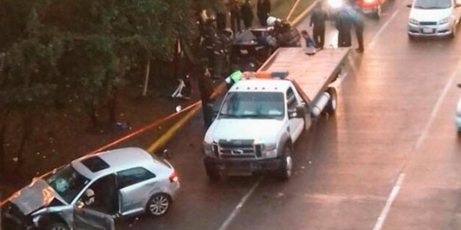 Muere persona tras accidente automovilístico en Lomas Verdes