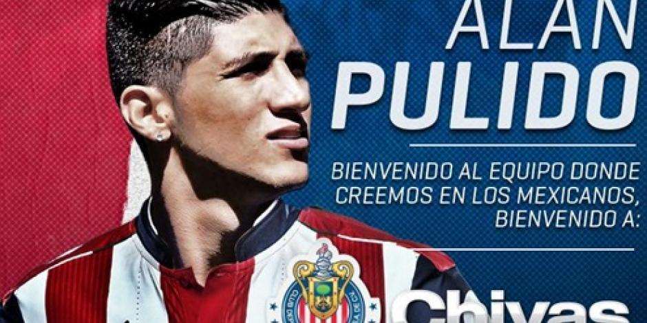 Es oficial, Alan Pulido llega a las Chivas