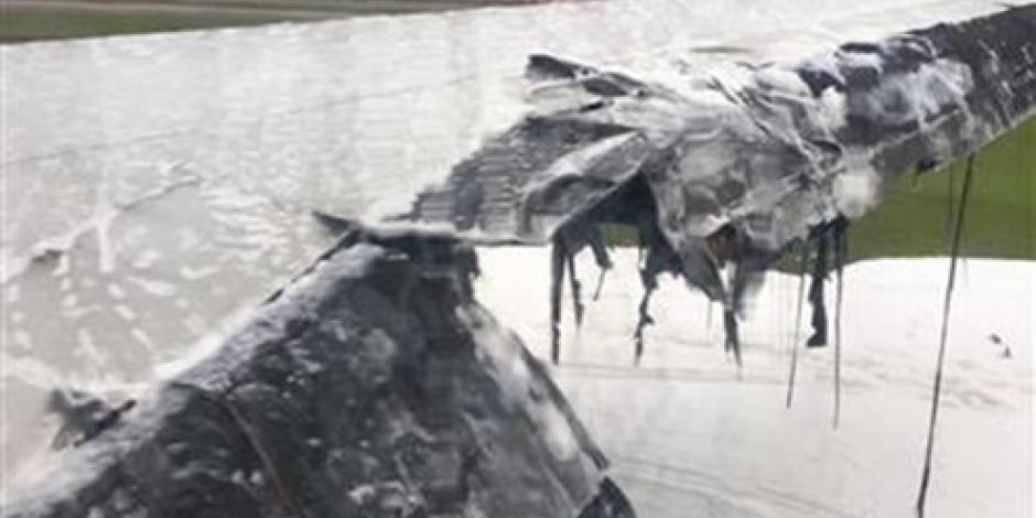 Se salvan 241 pasajeros tras incendio de avión