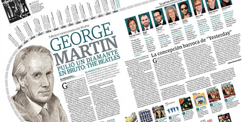 George Martin  pulió un diamante en bruto: The Beatles