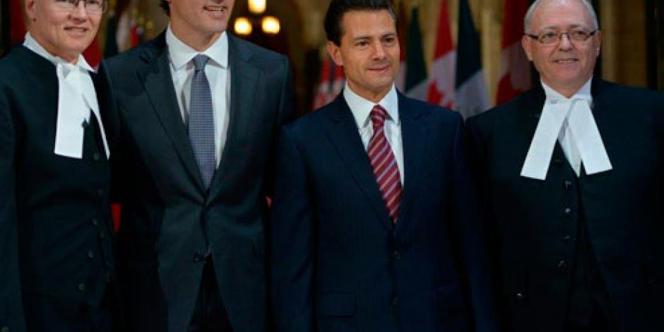 Existe confianza de Canadá en México al eliminar visas, dice EPN
