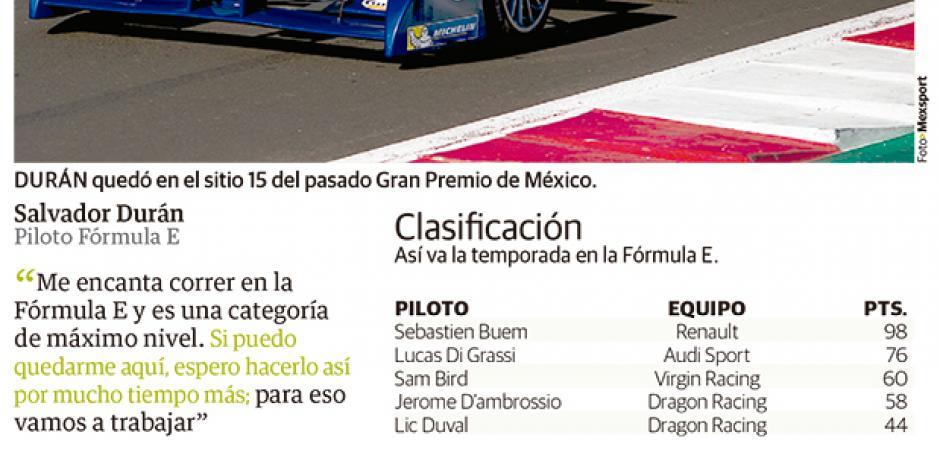Salvador Durán descarta interés de mudarse a F1