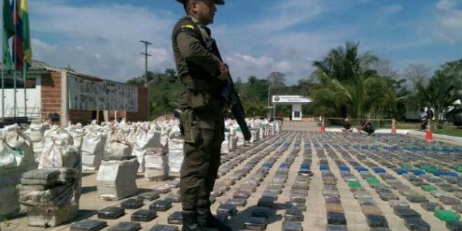 Incautan ocho toneladas de cocaína en Colombia