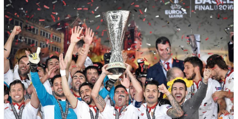 Sevilla extiende reinado, por tercer año, en Europa League