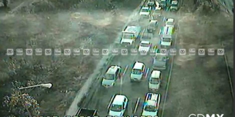 Accidente en México – Pachuca genera tránsito lento en Periférico