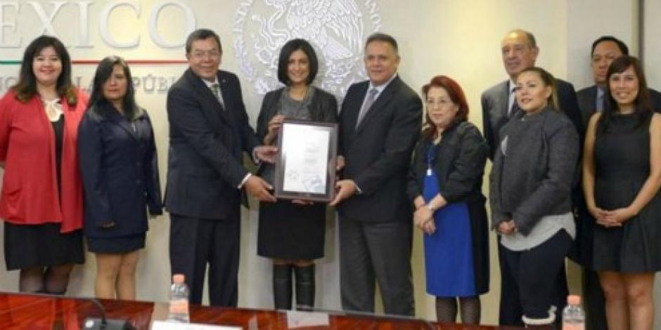 Recibe Presidencia certificado en Igualdad Laboral y No Discriminación