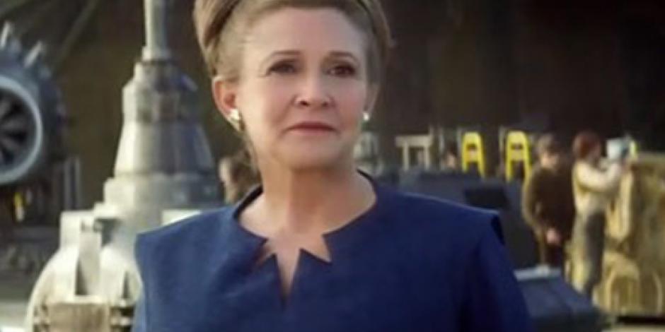 Carrie Fisher concluyó grabaciones del episodio VIII de