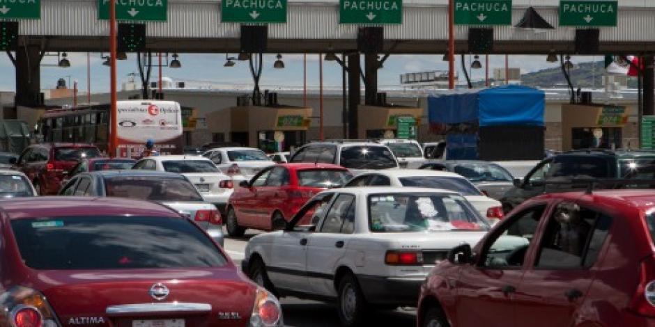 Carretera México-Pachuca registra mayor aforo vehicular