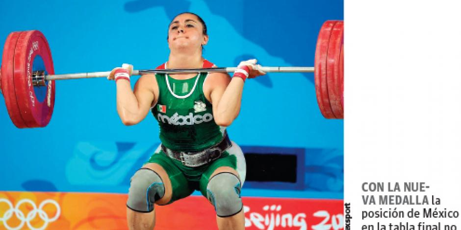 Damaris ganaría bronce por <em>doping </em> de sus rivales.