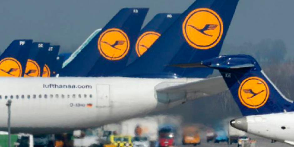 Lufthansa cancela 895 vuelos por huelga de trabajadores