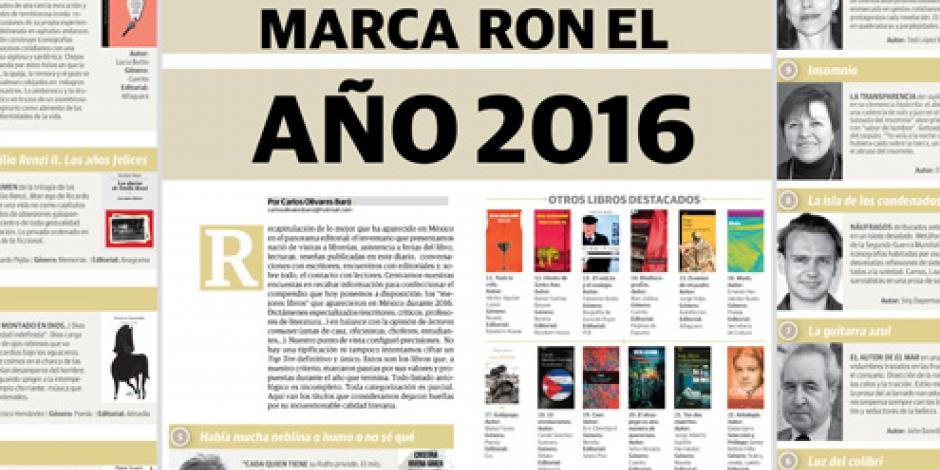 Los libros  que marcaron el año 2016