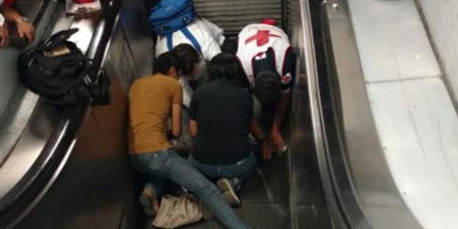 Reportan herida superficial de niña accidentada en escaleras de Polanco