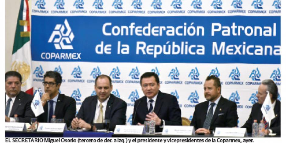 Osorio y la IP dialogan sobre  gobernabilidad y seguridad