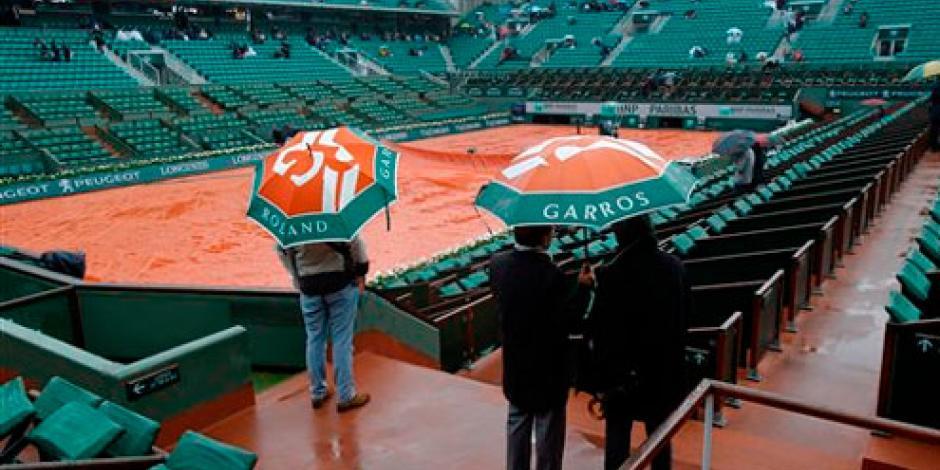 Cancelan juegos del Abierto de Francia por lluvia