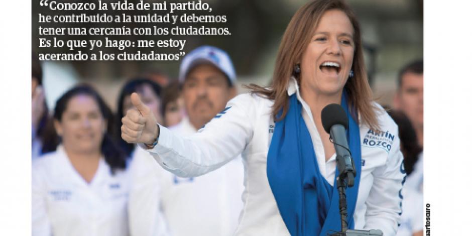 Zavala confía ganar en 2018 a López Obrador