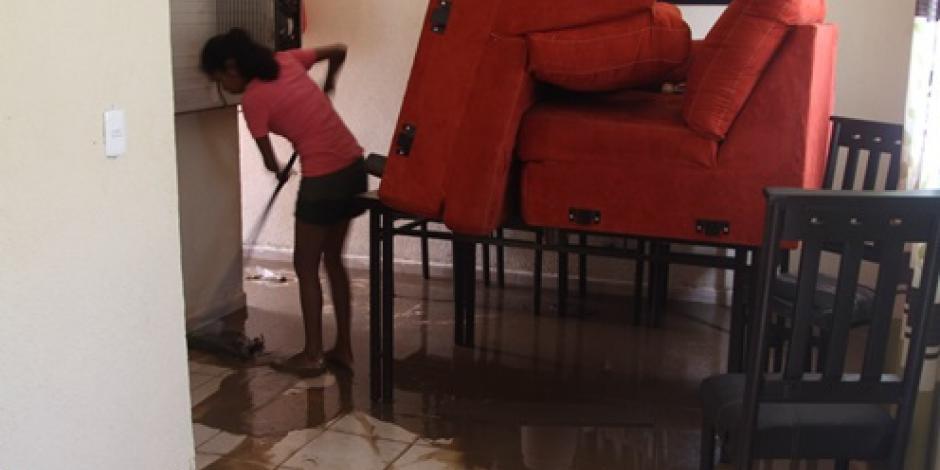Lluvias deja daños en mil 497 casas de Guerrero