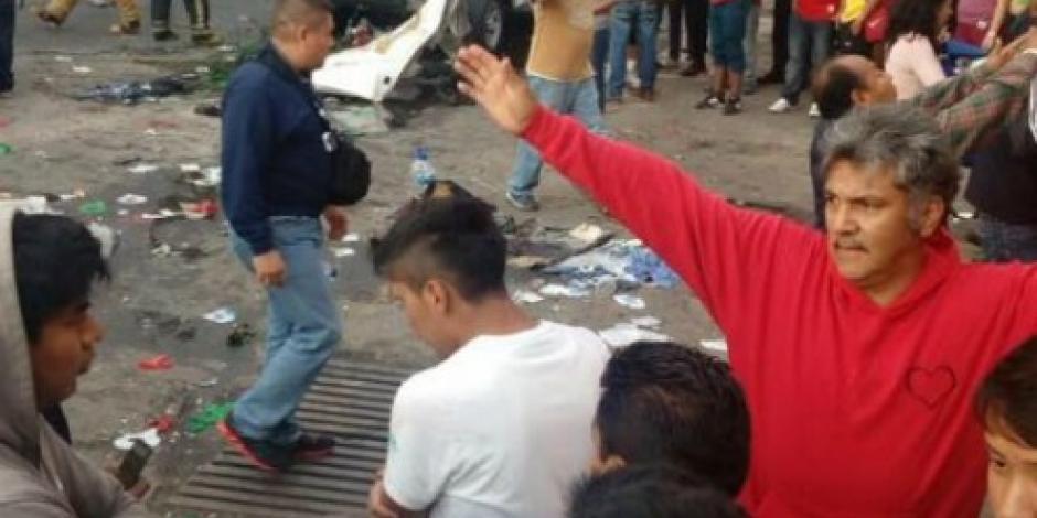 Mueren dos peregrinos por usar pirotecnia en Veracruz