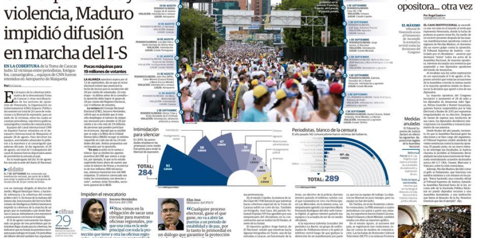 Con expulsiones y violencia, Maduro impidió difusión en marcha del 1-S