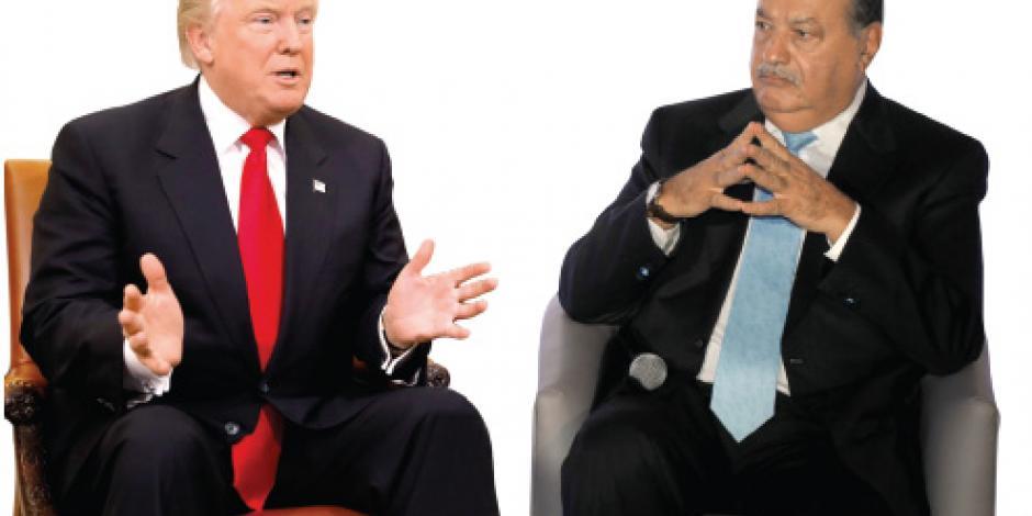 Trump cena con Slim y dice que es un hombre maravilloso