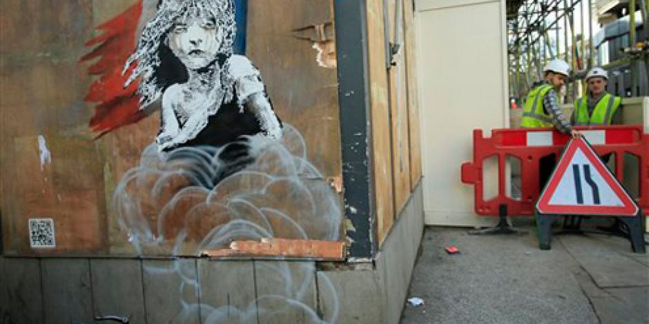 Obras callejeras de Banksy son vandalizadas en Londres